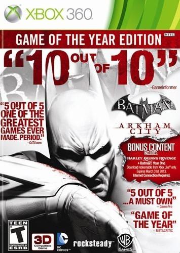 Batman Arkham City Xbox 360 Mídia Física Novo Lacrado