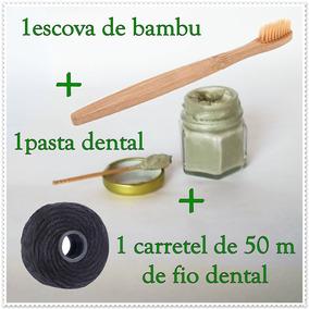 9c7405c28 Kit Escova Pasta Fio Dental - Escovas de Dentes no Mercado Livre Brasil