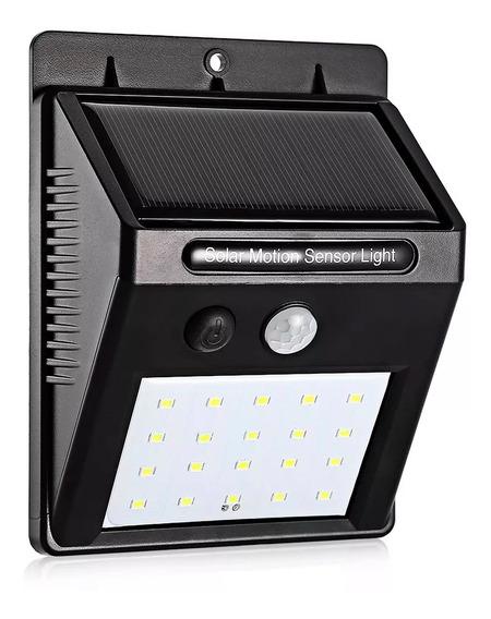 4 Luminária Solar Parede 20 Led Sensor Movimento Fotocélula