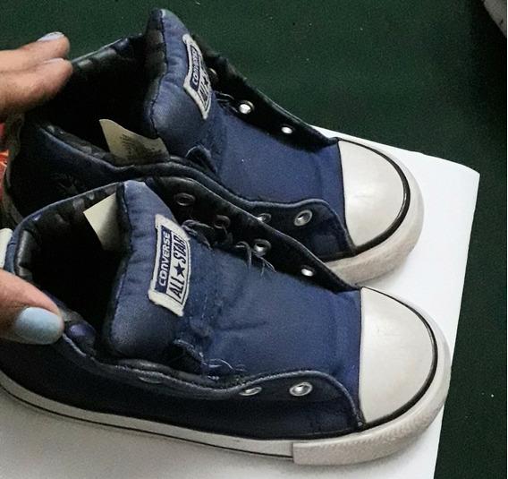 Zapatos Converse Originales De Niños Usados Tipo Botines.