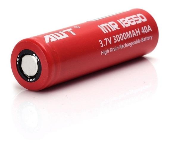 1x Bateria Awt 18650 3000 Mah 40a Original Para Vape.