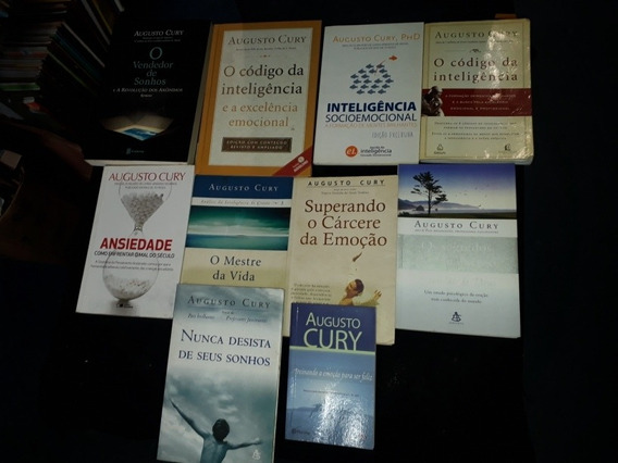 Lote 10 Livros Augusto Cury