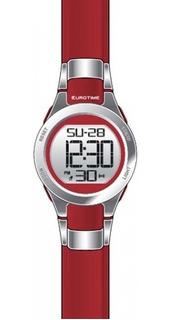 Reloj Eurotime Digital Dama Alarma Luz Sumergible-tmreyz