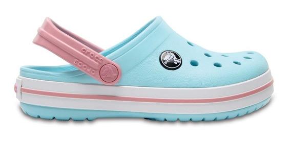 Zapato Crocs Unisex Infantil Crocband Aqua / Rosa