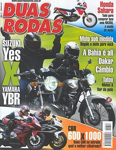 2r.353 Fev05- Honda Nx350 Sahara Cbr600 1000 Yes125 Ybr