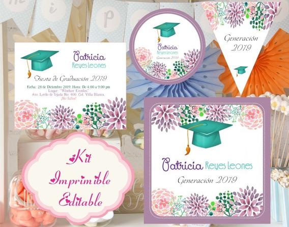 Kit Imprimible Diplomas Candy Egresados Kdkt0192