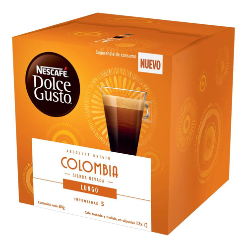Capsulas Nescafe Dolce Gusto Lungo Colombia Cafe Premium