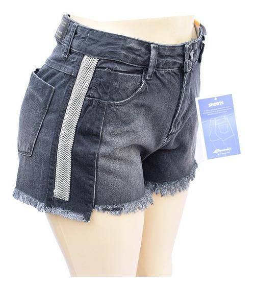 Shorts Feminino Sawary Jeans Boyfriend 100% Algodão - 256362