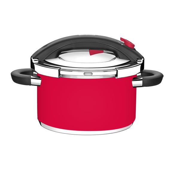 Panela De Pressão Em Aço Inox Tramontina Presto 6 Litros Vermelha