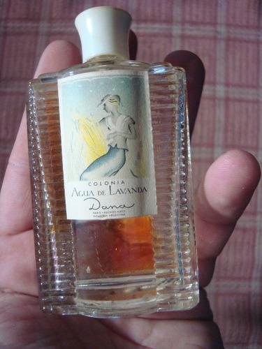 Antiguo Frasco Vacío Perfume Dana Agua De Lavanda Impecable