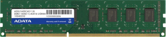 Memoria Pc 4gb Ddr3 1333 Ou 1600mhz Smart Kingston Adata