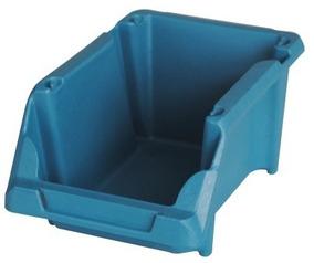 Caixa Plástica Gaveteiro Parafuso 5 Azul / Preta 10 Unidades