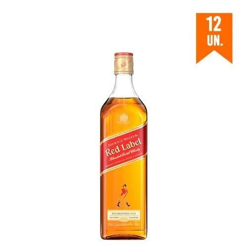 Kit Whisky Johnnie Walker Red Label 750 Ml - 12 Unidades