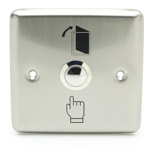 Boton De Salida Pulsador Control Acceso Metalico Puerta
