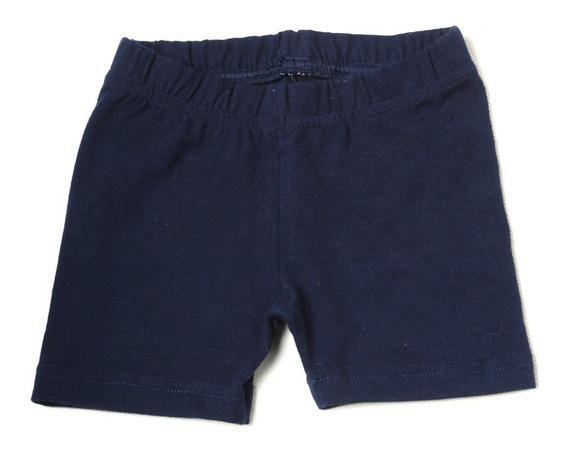 Mini Short Calza Colegial Azul Talle 4 A 16 Algodón C/lycra