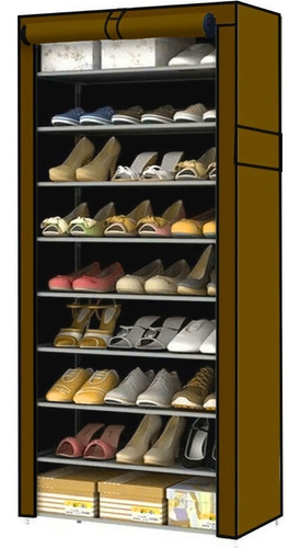 Zapatera Organizador Zapatos 9 Niveles Compartimientos Metal