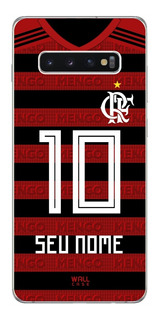 Capinha Galaxy S10 Plus Flamengo Personalizada Nome E Numero