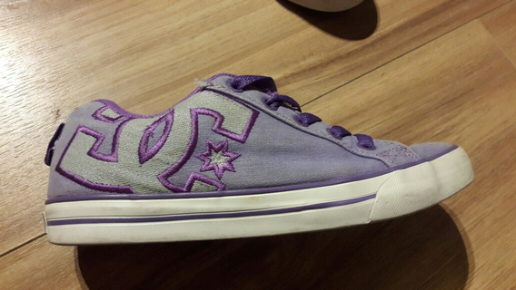 Zapatillas Dc Mujer Tela Original Oferta Violetas