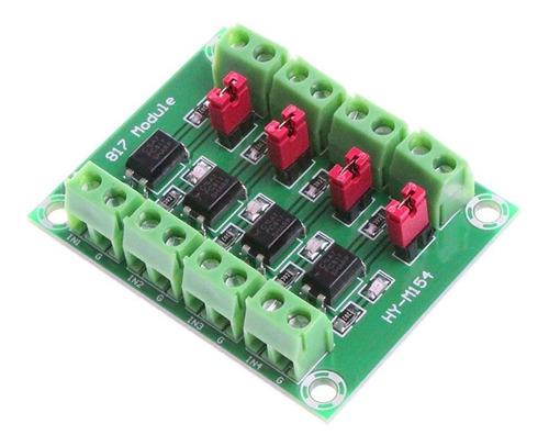 Imagen 1 de 6 de Modulo Optoacoplador 4 Canales 3.6-24v A 3.6-30v Arduino Uno