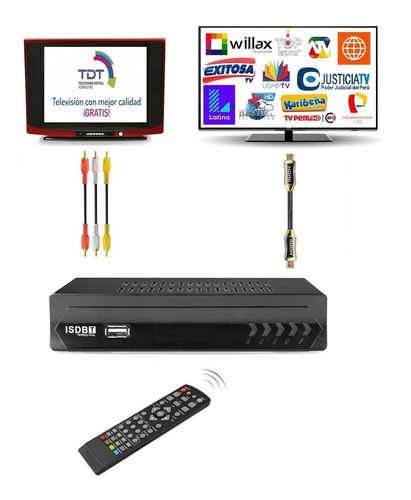 Sintonizador Decodificador Tv Digital Hd 1080p Tdt Isdbt