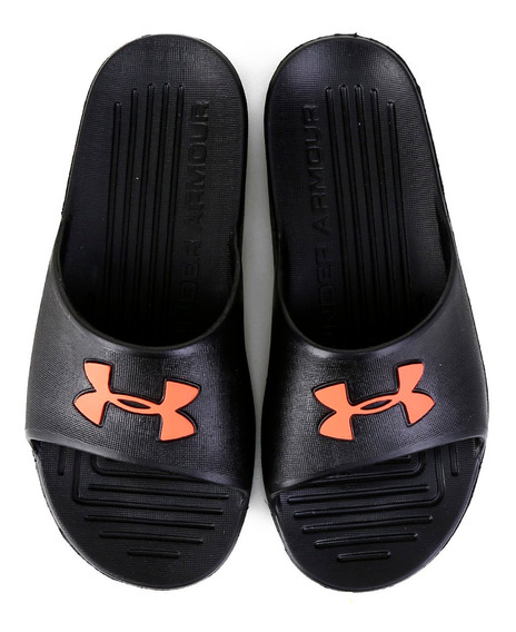Chinelo Slide Under Armour Core Preto E Vermelho - Original