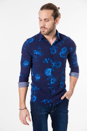 Camisa Tascani Avitol Azul Hombre