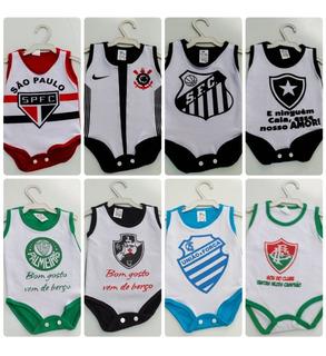 Promoção 10 Body 0-2 Meses Time Vasco Futebol Bebe Unissex