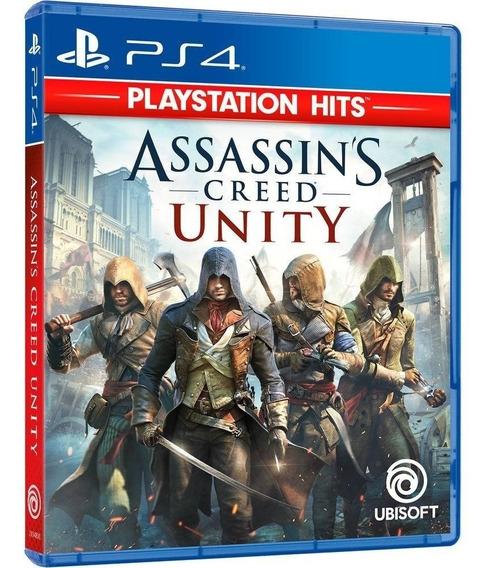 Jogo Assassins Creed Unity Ps4 Midia Fisica Cd Original Novo
