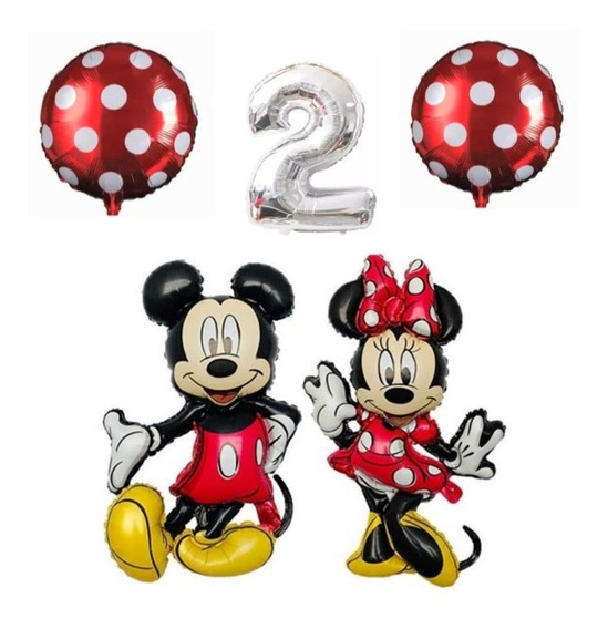 Globo Metalizados Mickey O Minnie Leer Descripción Pack