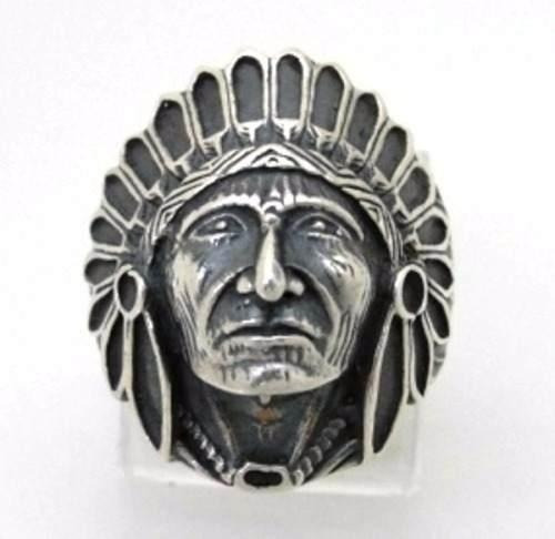Anel Índio Apache Prata 950 *** Frete Grátis ***