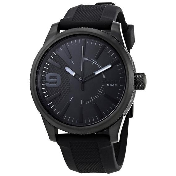 Relógio Diesel Masculino Silicone Preto Dz18078pn