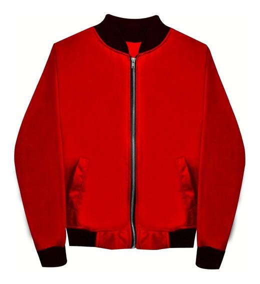Chamarra Bomber Jacket Con Cierre Moda Varios Colores