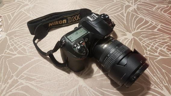 Nikon D200 + Lente Nikon Af-s 18-70 + 2 Compactflash + Case