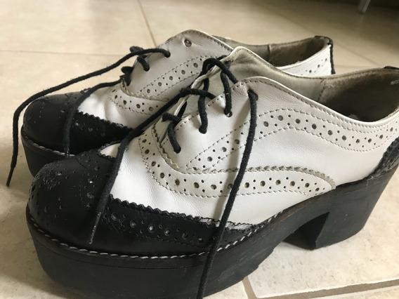 Zapatos Nazaria Blanco Y Negro 36