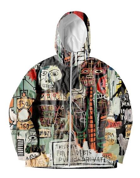 Jaqueta Corta Vento Estampado Basquiat Graffiti Swag Pixo Mt