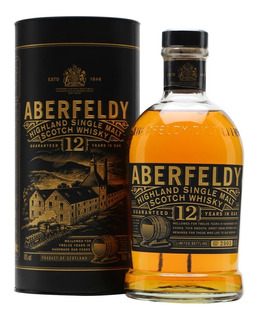 Whisky Single Malt Aberfeldy 12 Años De Litro 40%abv Escoces