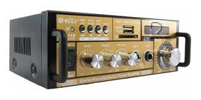 Mini Amplificador Teli Bt-118 Com Bluetooth Karaoke Fm Mp3