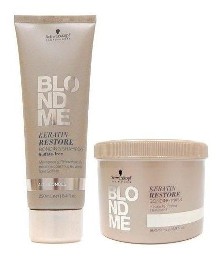 Schwarzkopf Blondme Kit Rubios Shampoo 250ml + Mascara 500ml