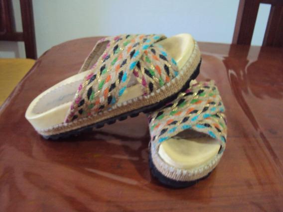 Sandalias/chatitas De Yute Multicolor!!