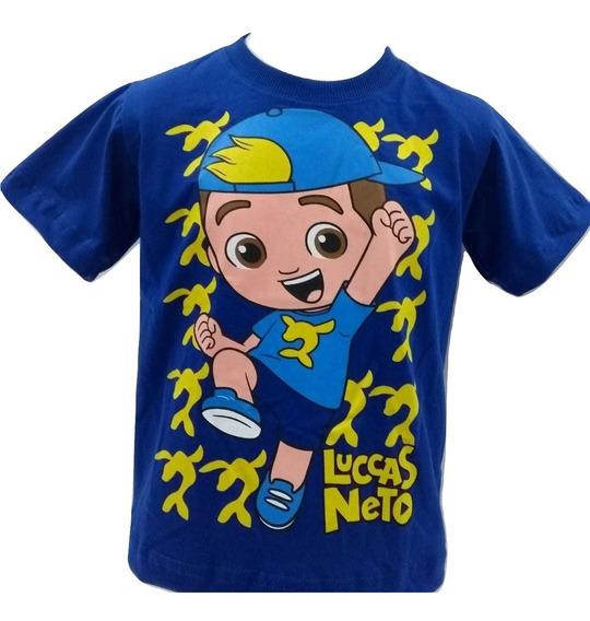 Camiseta Camisa Manga Curta Infantil Lucas Neto Algodão
