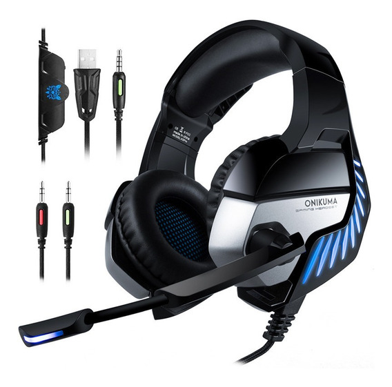 Onikuma K5 Pro Gaming Fone De Ouvido Hi-fi Subwoofer Headset