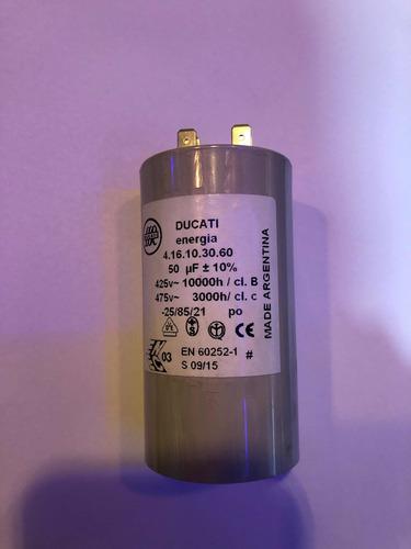 Imagen 1 de 1 de Capacitor De Arranque 50mf 450v Ducati