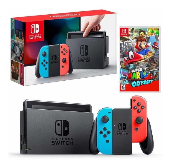 Nintendo Switch Jogo Mário Odyssei Brinde