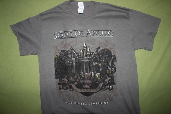 Gusanobass Playera Rock Metal Sons Of Apollo Prog Med