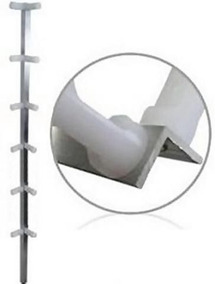 04 Haste Canto P/ Cerca Elétrica 1 Metro Cantoneira Aluminio