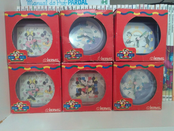 Relógio Disney Mickey Mouse Pato Donald Minnie Margarida
