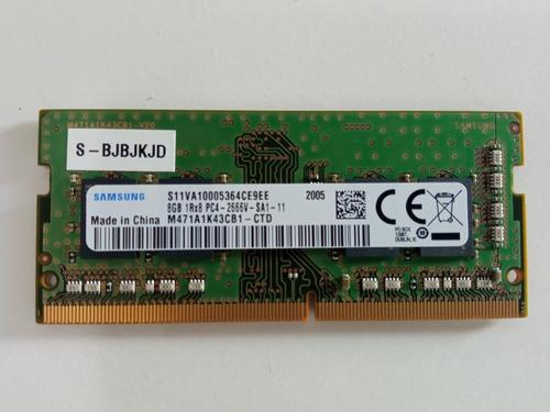 Imagem 1 de 2 de Memória Ram Ddr4 8gb 1x8gb Samsung M471ak43cb1-ctd