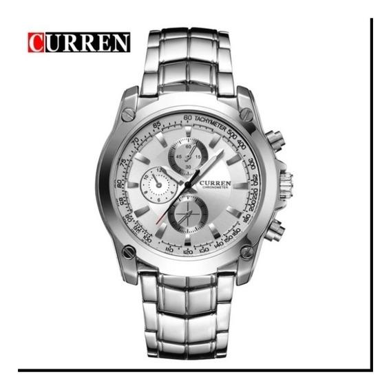 Relógio Masculino Curren Barato Aço Inoxidável+brinde C.51