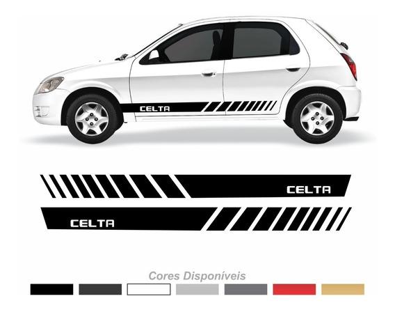 Adesivo Chevrolet Celta Faixa Lateral Personalizado Ctm103