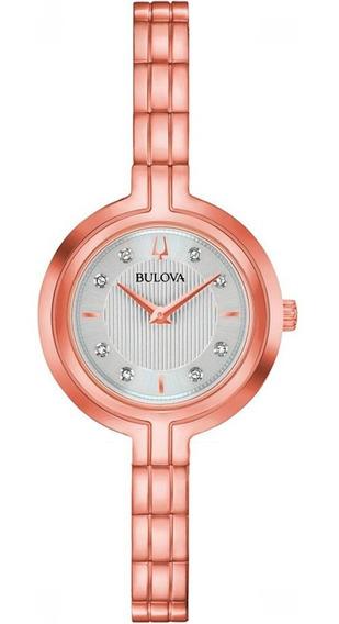 Relógio Bulova Feminino Rhapsody 97p145 Diamantes